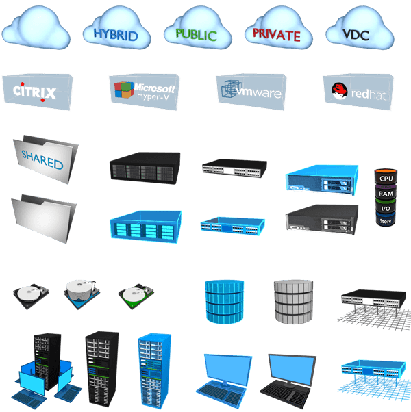 Free VMTurbo Datacenter Stencils For Microsoft Visio And